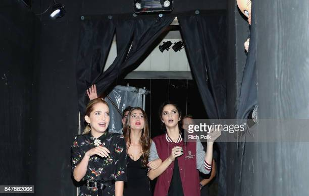 Jessica Rothe Rachel Matthews and Ruby Modine attend Halloween Horror Nights Opening Night Red Carpet at Universal Studios Hollywood on September 15...