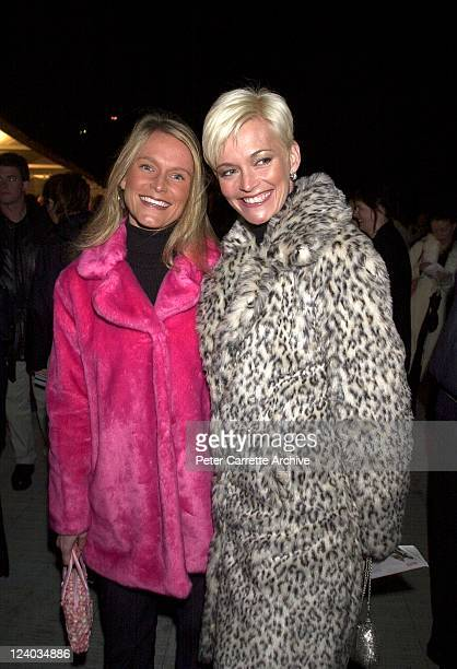 Jessica Rowe and her sister arrive for the opening night of the Cirque du Soleil production of 'Alegria' under the Grand Chapiteau at Moore Park on...