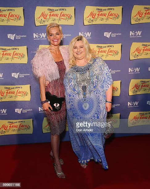 Jessica Rowe and Lara Mulcahy arrives ahead of My Fair Lady opening night at Sydney Opera House on September 6 2016 in Sydney Australia