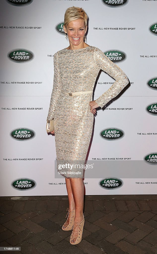 Jessica Rowe arrives at a Range Rover Sport launch event at the Overseas Passenger Terminal on July 29, 2013 in Sydney, Australia.