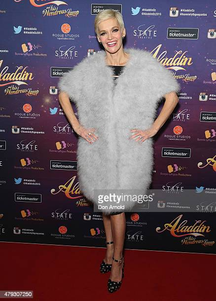Jessica Rowe arrives at Aladdin And His Wondrous Lamp opening night at the State Theatre on July 3 2015 in Sydney Australia