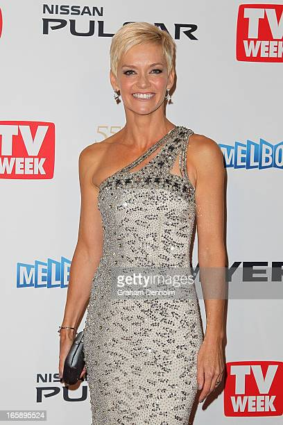 Jessica Rowe arrives at the 2013 Logie Awards at the Crown on April 7 2013 in Melbourne Australia