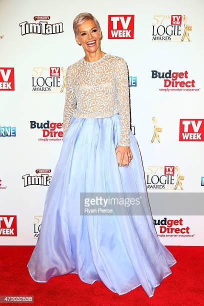 Jessica Rowe arrives at the 57th Annual Logie Awards at Crown Palladium on May 3 2015 in Melbourne Australia