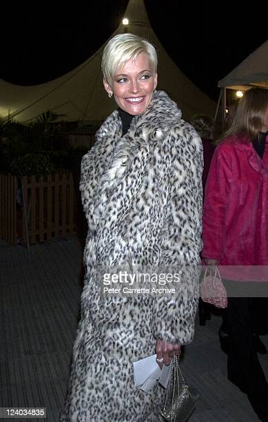 Jessica Rowe arrives for the opening night of the Cirque du Soleil production of 'Alegria' under the Grand Chapiteau at Moore Park on May 29 2001 in...