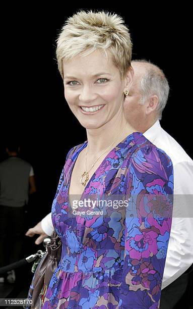 Jessica Rowe during MAFW MercedesBenz Fashion Week Spring/Summer 2006 Charlie Brown Runway in Sydney NSW Australia