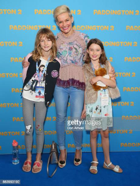 Jessica Rowe poses alongside daughters Allegra Overton and Giselle Overton ahead of the Paddington 2 Australian Premiere on December 2 2017 in Sydney...