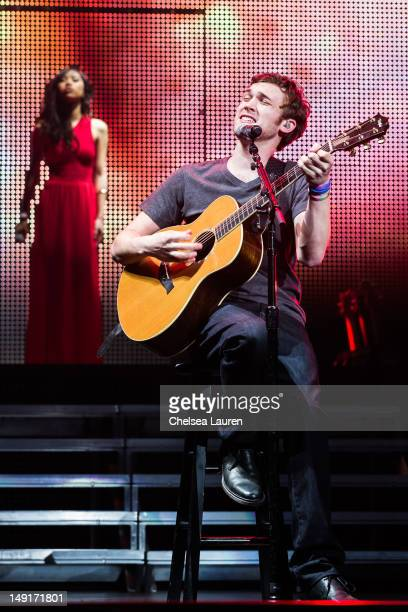 Jessica Sanchez and Phillip Phillips perform at American Idol Live Summer Tour at Nokia Theatre LA Live on July 23 2012 in Los Angeles California
