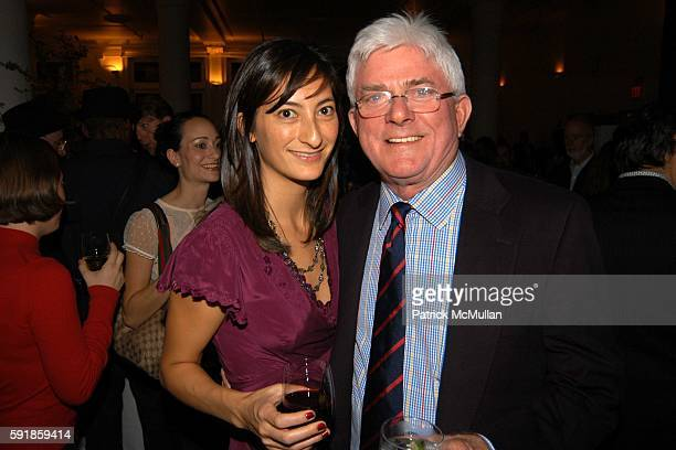 Jessica Sanders and Phil Donahue attend AFTER INNOCENCE PREMIERE BENEFIT FOR THE LIFE AFTER EXONERATION PROGRAM AND THE INNOCENCE PROJECT AFTER PARTY...