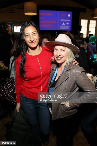 Jessica Sanders and Tiffany Shlain attend The Sundance Institute Refinery29 and DOVE Chocolate Present 2018 Women at Sundance Brunch at The Shop on...