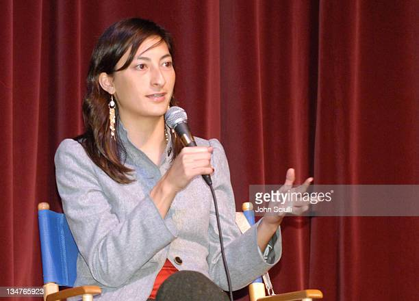Jessica Sanders director during After Innocence Project Involve Screening and QA at Nate Holden Performing Arts Center in Los Angeles California...