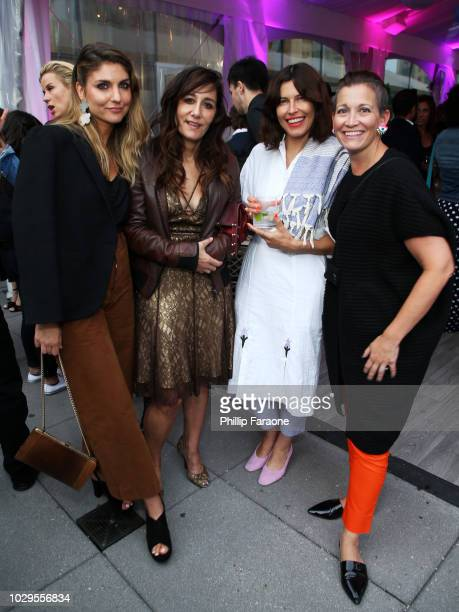 Jessica Sanders, Gillian Barnes, guest, and CCO Refinery29 Amy Emmerich celebrate Shatterbox with Refinery29 and TNT during 2018 Toronto...