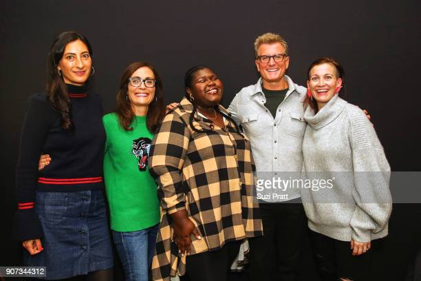 Jessica Sanders Sarah Aubrey Gabourey Sidibe Kevin Riley and Amy Emmerich pose for a photo at the Refinery29 and TNT Shatterbox Anthology Season 2...