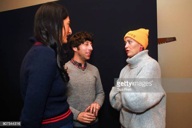 Jessica Sanders Simon Helberg and Amy Emmerich pose for a photo at Refinery29 and TNT Shatterbox Anthology Season 2 Sundance Premiere Party at...