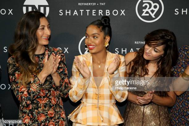 Jessica Sanders, Yara Shahidi, and Gillian Barnes celebrate Shatterbox with Refinery29 and TNT during 2018 Toronto International Film Festival at...