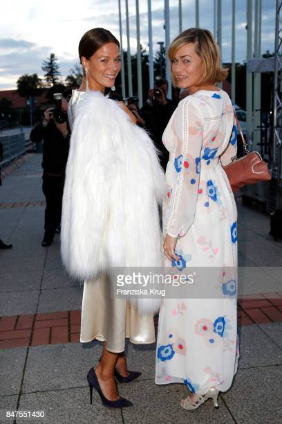Jessica Schwarz and Gesine Cukrowski attend the UFA 100th anniversary celebration at Palais am Funkturm on September 15 2017 in Berlin Germany