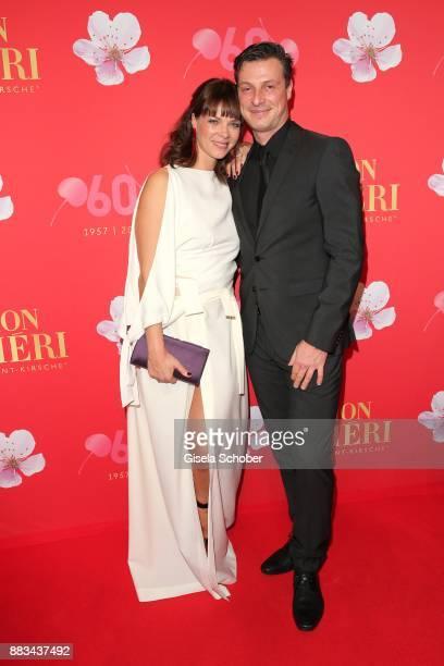 Jessica Schwarz and her boyfriend Markus Selikovsky during the Mon Cheri Barbara Tag at Postpalast on November 30 2017 in Munich Germany