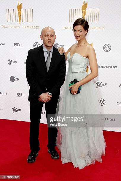 Jessica Schwarz and Juergen Vogel attend the Lola German Film Award 2013 at Friedrichstadtpalast at Friedrichstadt-Palast on April 26, 2013 in...