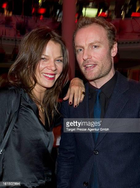 Jessica Schwarz and Mark Waschke attend the BMW aftershow party of the 'Deutscher Schauspielerpreis' during the 63rd Berlinale International Film...