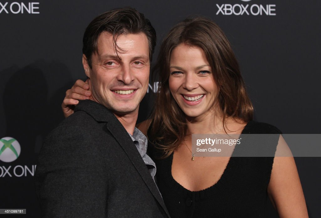 Jessica Schwarz and Markus Selikowsky attend the Microsoft Xbox One launch party at the Microsoft Center on November 21, 2013 in Berlin, Germany. Microsoft is launching the new console to compete against the new Sony Playstation 4 ahead of Christmas.