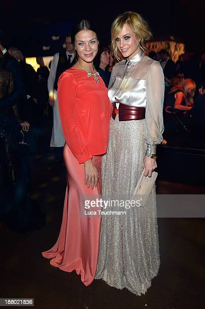 Jessica Schwarz and Mirjam Weichselbraun attend the Bambi Awards 2013 After Show Party at Stage Theater on November 14 2013 in Berlin Germany