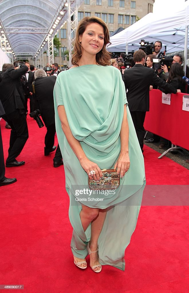 Jessica Schwarz attends the Lola - German Film Award 2014 at Tempodrom on May 9, 2014 in Berlin, Germany