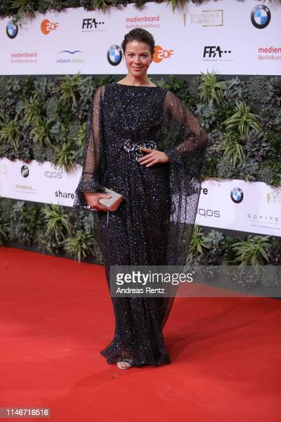 Jessica Schwarz attends the Lola - German Film Award red carpet at Palais am Funkturm on May 03, 2019 in Berlin, Germany.