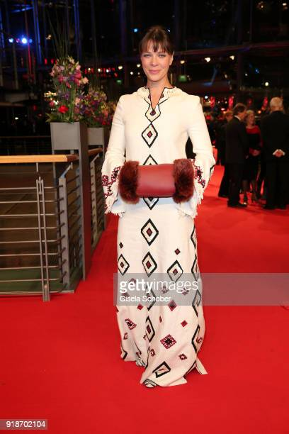 Jessica Schwarz attends the Opening Ceremony 'Isle of Dogs' premiere during the 68th Berlinale International Film Festival Berlin at Berlinale Palace...