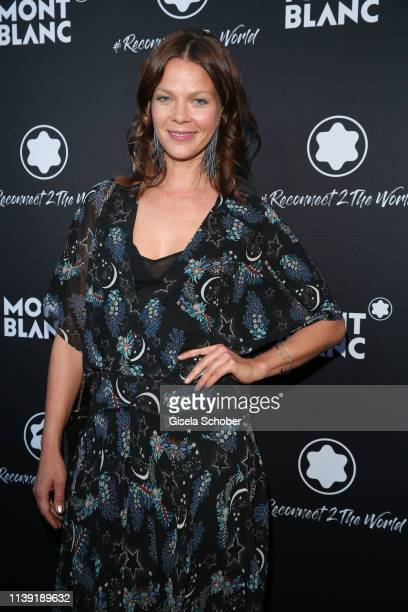 """Jessica Schwarz attends the """"To Berlin and Beyond with Montblanc: Reconnect To The World"""" launch event at Metropol Theater on April 24, 2019 in..."""