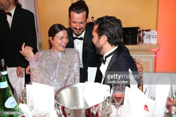 Jessica Schwarz Florian David Fitz Elyas M'Barek during the 46th German Film Ball party at Hotel Bayerischer Hof on January 26 2019 in Munich Germany