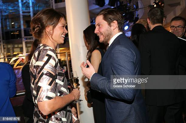 Jessica Schwarz formerly girlfriend of Daniel Bruehl Daniel Bruehl and his girlfriend Felicitas Rombold during the 'Vogue loves Breuninger' fashion...