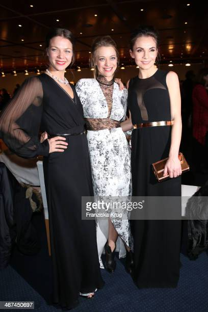 Jessica Schwarz, Heike Makatsch and Nadine Warmuth attend the Opening Party - 64th Berlinale International Film Festival at Berlinale Palast on...