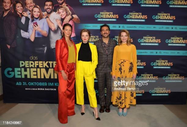Jessica Schwarz Jella Haase Elyas M'Barek and Karoline Herfurth attend the premiere of Das perfekte Geheimnis at Astor Filmlounge on October 29 2019...