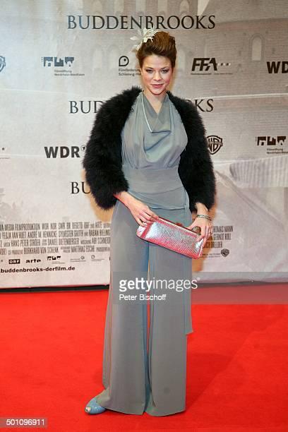 Jessica Schwarz Premiere zum Kinofilm Buddenbrooks Ein Geschäft von einiger Grösse Lichtburg Essen NordrheinWestfalen Deutschland Europa Filmpremiere...