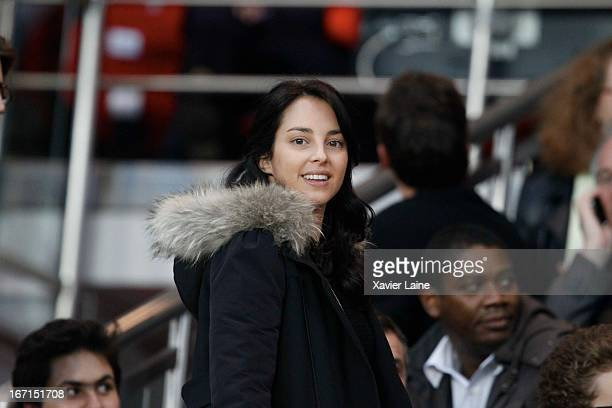 Jessica SebaounDartySarkozy attends the French League 1 between Paris SaintGermain FC and OGC Nice at Parc des Princes on April 21 2013 in Paris...