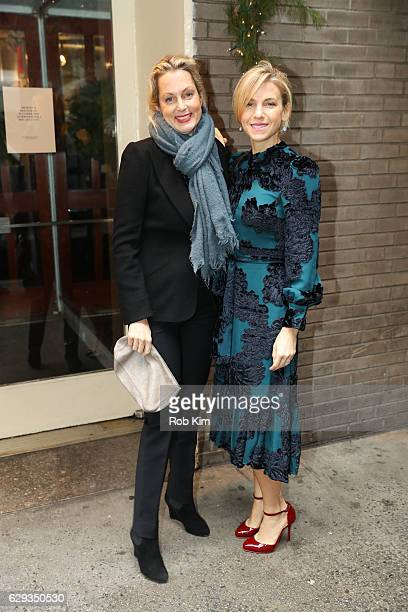 Jessica Seinfeld and Ali Wentworth arrive for the Hearst 100 Luncheon at Michael's on December 12 2016 in New York City