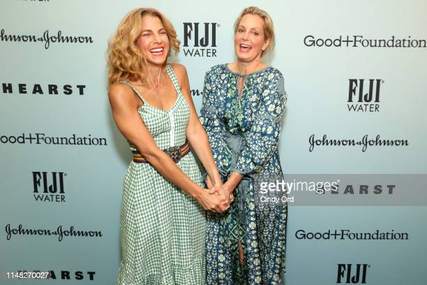 Jessica Seinfeld and Ali Wentworth attend GoodFoundation 2019 Bash presented by Hearst and Johnson Johnson with FIJI Water at Victorian Gardens in...