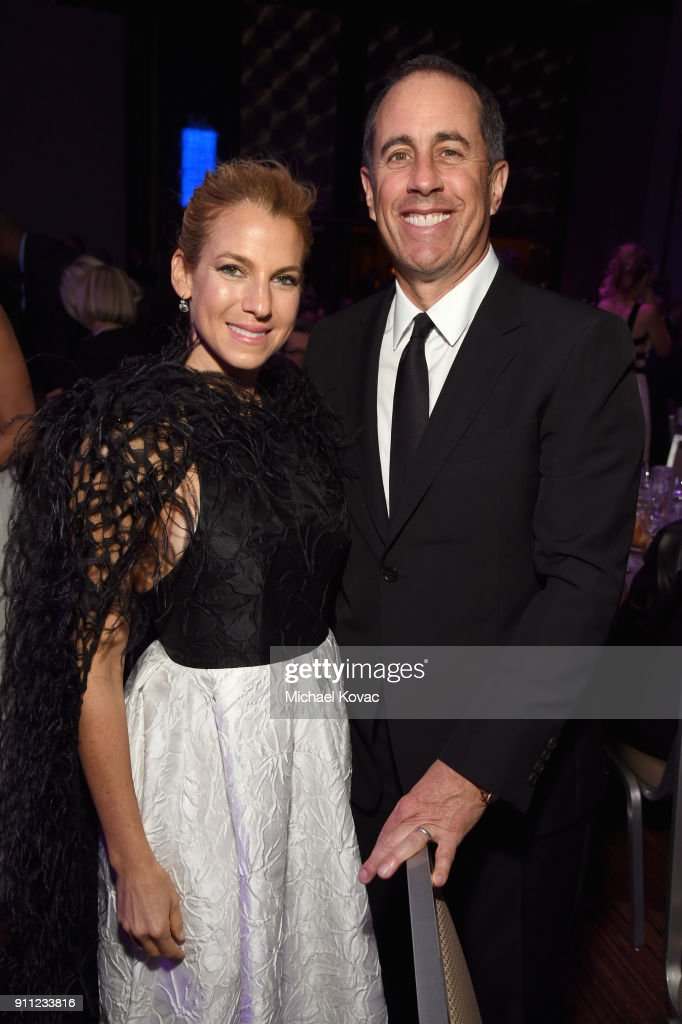 Jessica Seinfeld and comedian Jerry Seinfeld attend the Clive Davis and Recording Academy Pre-GRAMMY Gala and GRAMMY Salute to Industry Icons Honoring Jay-Z on January 27, 2018 in New York City.