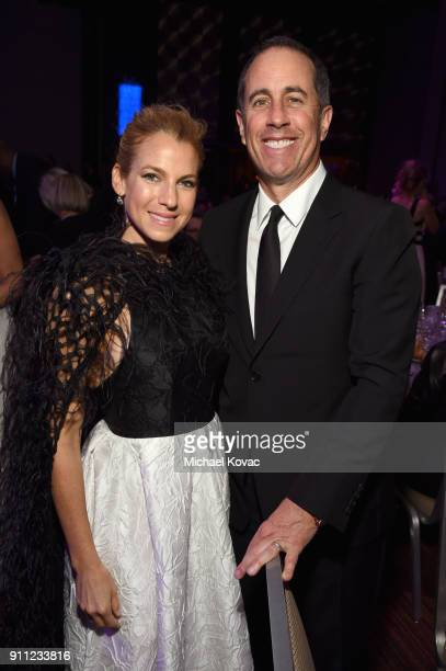 Jessica Seinfeld and comedian Jerry Seinfeld attend the Clive Davis and Recording Academy PreGRAMMY Gala and GRAMMY Salute to Industry Icons Honoring...