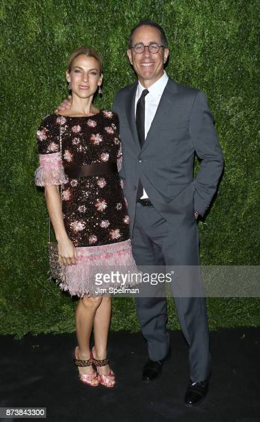 Jessica Seinfeld and comedian Jerry Seinfeld attends the 2017 Museum of Modern Art Film Benefit Tribute to Julianne Moore at Museum of Modern Art on...
