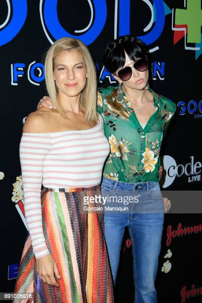 Jessica Seinfeld and designer Stacey Bendet attend the 2017 Good+ Foundation NY Bash at Victorian Gardens at Wollman Rink Central Park on May 31,...