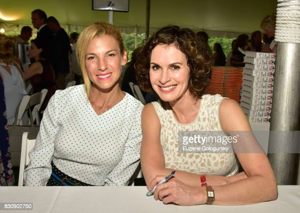 Jessica Seinfeld and Elizabeth Vargas attend Authors Night 2017 At The East Hampton Library at The East Hampton Library on August 12 2017 in East...