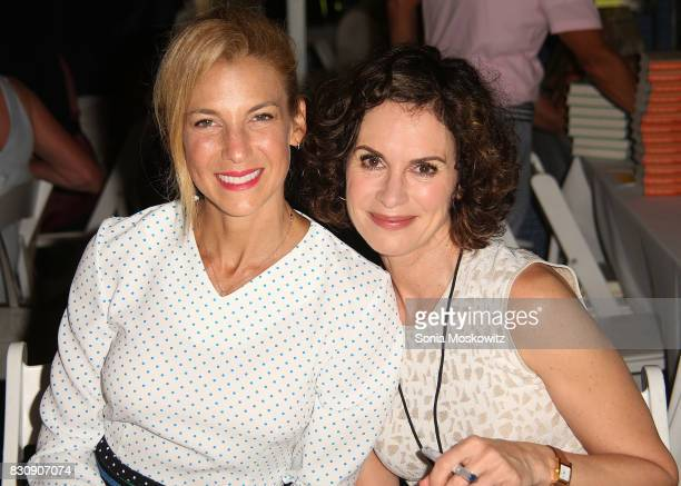 Jessica Seinfeld and Elizabeth Vargas attend Author's Night 2017 to benefit the East Hampton Library on August 12 2017 in East Hampton New York