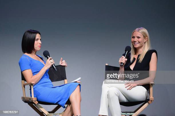 Jessica Seinfeld and Gwyneth Paltrow attend Apple Store Soho Presents Meet The Developer Gwyneth Paltrow Goop City Guides at Apple Store Soho on May...
