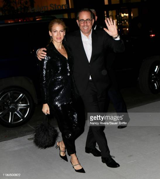 Jessica Seinfeld and Jerry Seinfeld are seen on November 06, 2019 in New York City.