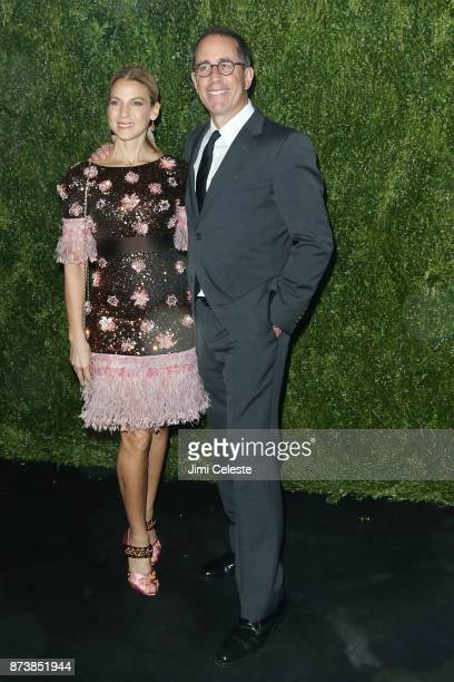 Jessica Seinfeld and Jerry Seinfeld attend the 2017 Museum of Modern Art Film Benefit Tribute To Julianne Moore at Museum of Modern Art on November...