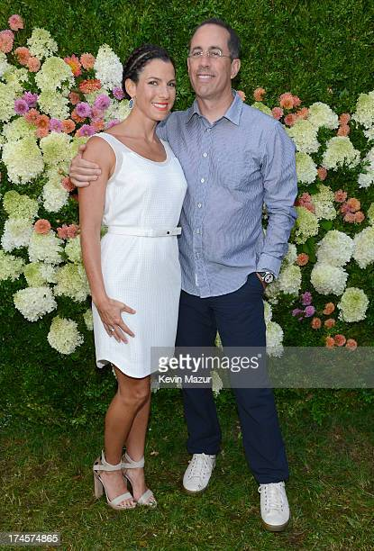Jessica Seinfeld and Jerry Seinfeld attend the Baby Buggy Summer Dinner hosted by Jessica and Jerry Seinfeld and rag bone on July 27 2013 in East...