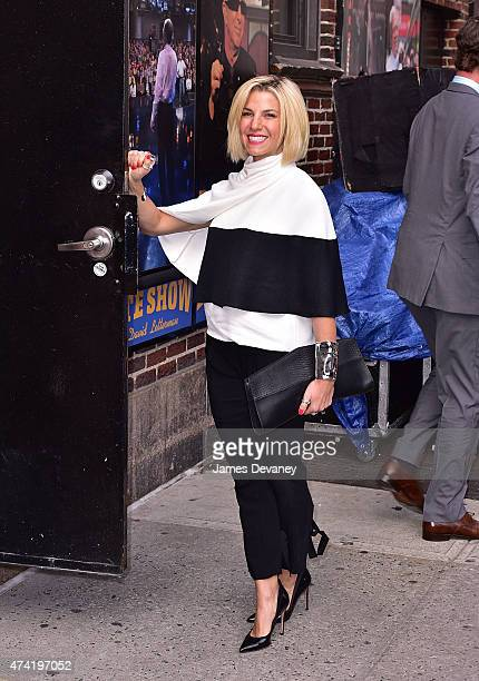 Jessica Seinfeld arrives to the 'Late Show With David Letterman' at Ed Sullivan Theater on May 20 2015 in New York City