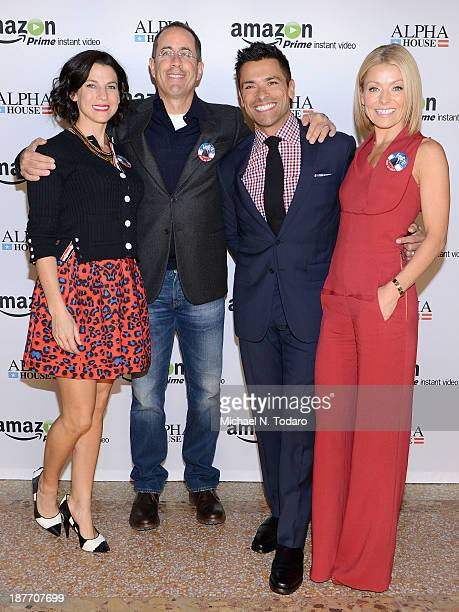 Jessica Seinfeld Jerry Seinfeld Mark Consuelos and Kelly Ripa attend Amazon Studios Premiere Screening for 'Alpha House' on November 11 2013 in New...
