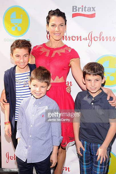 Jessica Seinfeld poses with her children Sascha, Shepherd Kellen and Julian Kal at the 2013 Baby Buggy Bedtime Bash hosted by Jessica and Jerry...