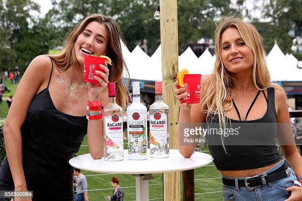 Jessica Serfaty and Alana Blanchard attend BACARDI presents the BACARDI UNTAMEABLE HOUSE PARTY at Governors Ball Music Festival at Governor's Island...